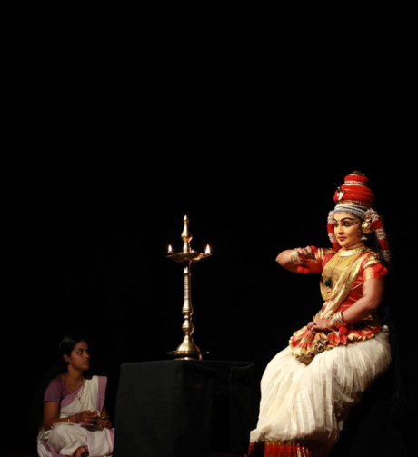 Dancer Indu G, during her 'Nangiar Koothu' recital. Photo courtesy ~ Vinay Kumar