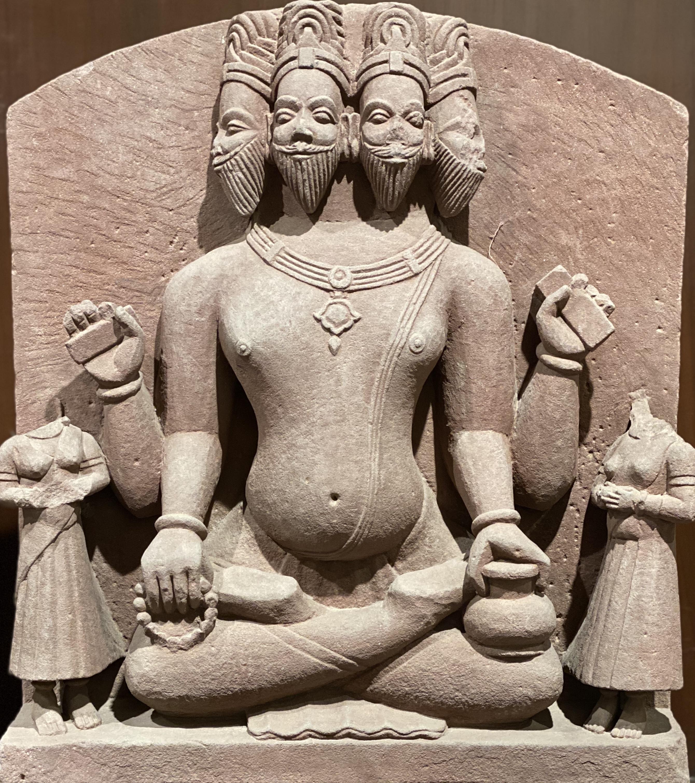 17th century Brahmaji in Padmasan
